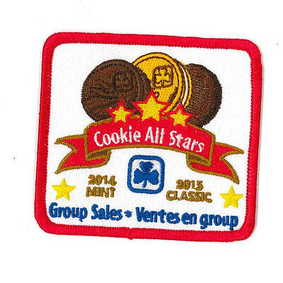 """Girl Guide Scout Brownie BADGE PATCH CREST – new! ~ Cookie All Stars 2014/15 3"""""""
