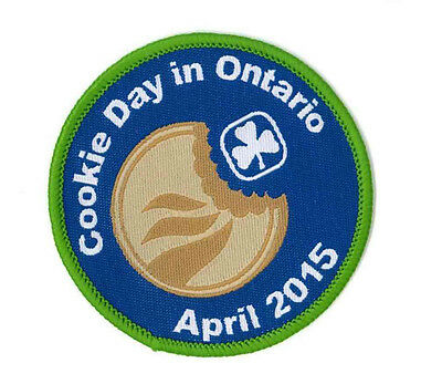 """Girl Guide Scout Brownie BADGE PATCH CREST – new! ~ Cookie Day Ontario 2.5"""""""