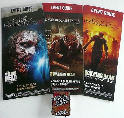 2014 Walking Dead Annual Pass Holders Pin Hhn Universal Halloween Horror Night