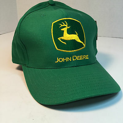 John Deere Green w/ Yellow  Lettering on Cap, 2000 logo, w/Tags,  Never wore,