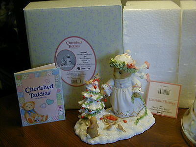 "Cherished Teddies Joy ""Natural Winter Beauty"" sparkly!!"