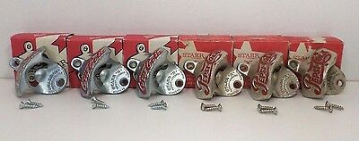 NOS Lot of 6 Vintage Starr X Bottle Openers in Box with Screws - Pepsi / Coke