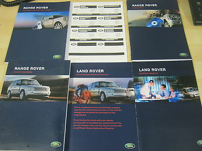 Range Rover  Handbook  Owners Manual 2005-2009 Navigation And Service Book