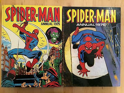 Marvel Spider-Man Annual 1975 & 1976 UK Editions