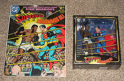 DC Superman Vs Muhammed Ali Treasury Comic Book Action Figures Neal Adams Cover