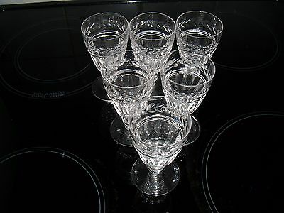 "Set of 6 Stuart Crystal Arundel 4"" Port Sherry Glasses - Signed ~ Excellent"