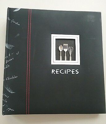 Tapestry Deluxe Recipe Binder Organizer Keeper by CR Gibson Cookbook black CUTE!