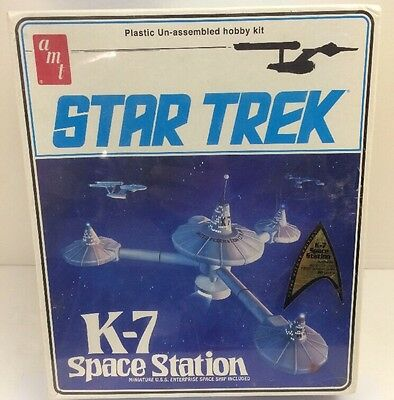 New Sealed Amt Star Trek K-7 Space Station Model Kit 2010