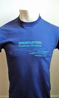 Trashcan Sinatras Weightlifting Blue Tshirt size Small
