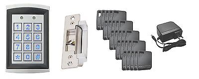 Stand Alone Access Control Kit: Key Pad/Prox Reader, Electric Strike &  Key Fobs