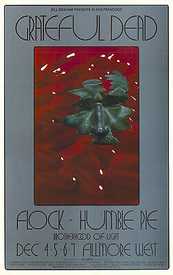 MINT Grateful Dead Peter Frampton 1969 BG 205 Fillmore Poster