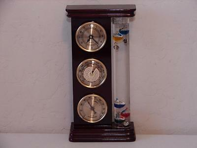 Galileo WEATHER STATION with Thermometer, Quartz Clock, Barometer and Hygrometer