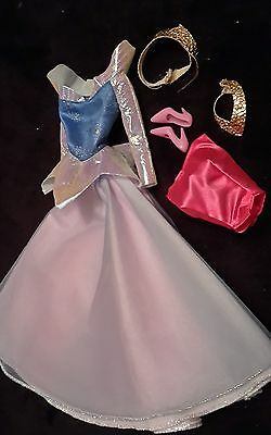 Disney Sleeping Beauty Princess Aurora Doll Reversible Outfit Fashion Dress Only