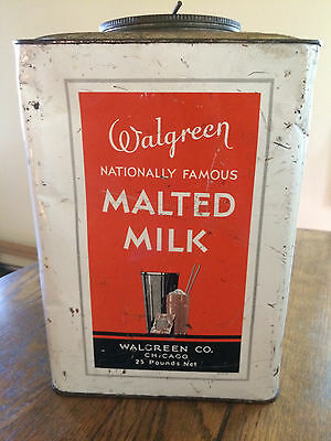 ARCHAIC WALGREEN no S in name SUPER RARE EARLY Advertising TIN WALGREENS antique