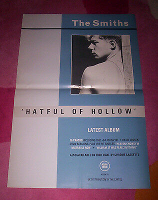 SMITHS POSTER ~ HATFUL OF HOLLOW. Orig 1984 promo. Morrissey.