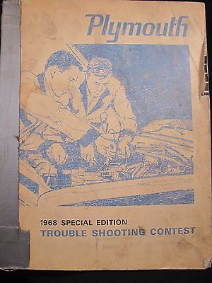 1968 Plymouth Special Edition Trouble Shooting Contest Manual
