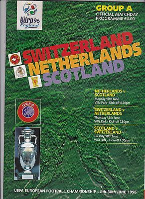 Euro96 programme group 'A' at Aston Villa Switzerland, Scotland, Netherlands