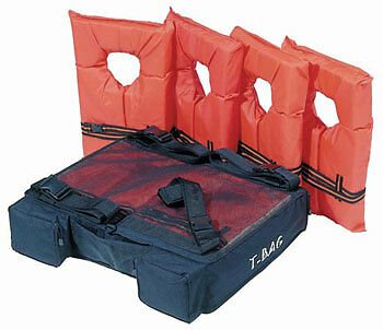 Kwik Tek T-Bag T-Top & Bimini Top Storage Pack Holds 4 Type II Vests