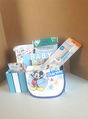 Welcome New Baby Boy! Baby Shower Gift Basket With Gift Wrap And Bow