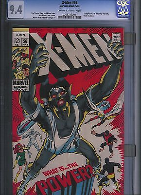 X-men # 56 CGC 9.4 Off White to White Pages. UnRestored