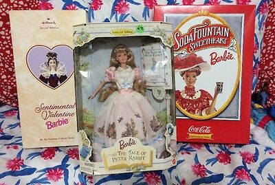 Mattel Soda Fountain Barbie 1st in Series Peter Rabbit & Sentimental Valentine