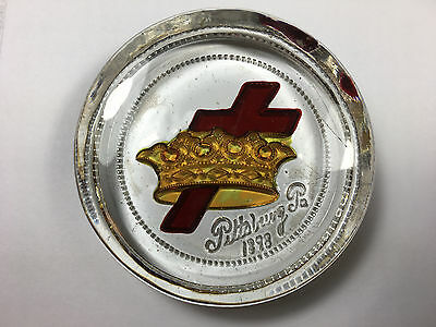 1898 Cross and Crown Paperweight Pittsburg PA Watchtower Jehovahs Witnesses IBSA