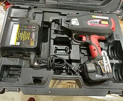 New MAX RB 398 Cordless Battery-Operated Rebar Tier Tying Machine Tool