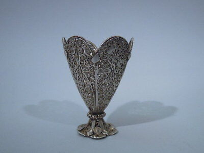 Exotic Zarf - Filigree Cup Holder - Near Eastern - Turkish Silver
