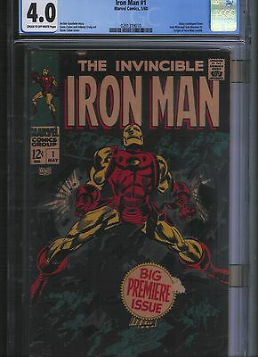 Iron Man # 1 CGC 4.0  Cream to  off White Pages. UnRestored.