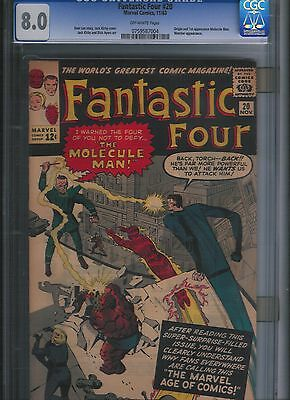 Fantastic Four # 20 CGC 8.0  Off White Pages. UnRestored.