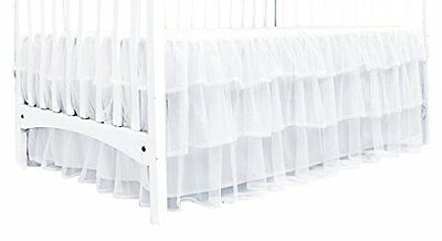 Tadpoles Triple Layer Tulle Crib Skirt in White, New