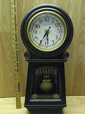 Very Cool Regulator Clock with Vintage Look, Sterling and Noble, Pendulum, Brown