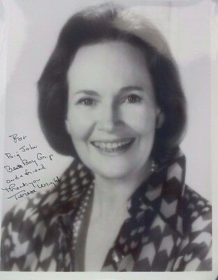 Vintage ~Teresa Wright~ Signed/autographed/inscribed~  (8X10)
