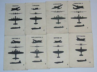 Card Pickers Canada 1940's WWII Victory Bond Gum Cards War Planes