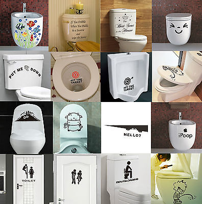Toilet Seats Art Wall Stickers Quote Bathroom Decoration Art Decal Home Decor