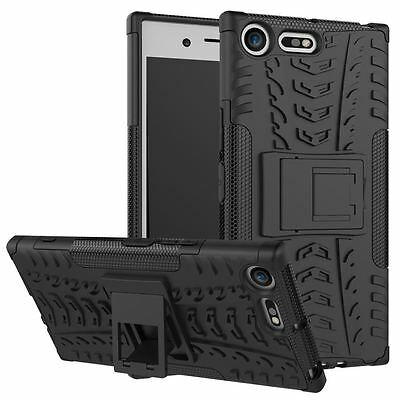 Sony Xperia XZ PREMIUM [Slim Armour] Shock Proof Case Cover Stand + LCD Guard