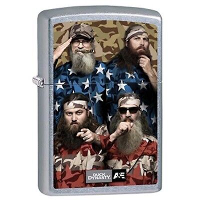 Zippo Duck Dynasty American Family Street Chrome Pocket Lighter