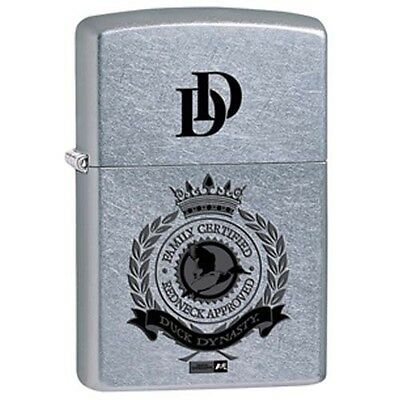 Zippo Duck Dynasty Seal Street Chrome Pocket Lighter