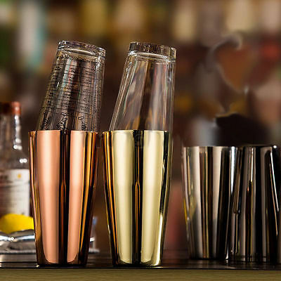 Stainless Steel Silver Gold Cocktail Boston Shaker Mixing Cups Bartending Tool