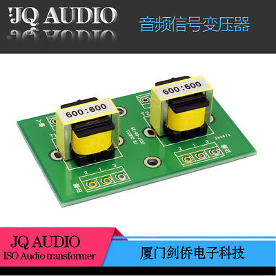 E19 permalloy Audio isolation transformer unbalanced to balanced 600:600 board