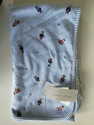 Polo Ralph Lauren NEW reversible boys baby wrap blanket throw