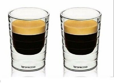 2pcs Nespresso Coffee Cup espresso mug thermal double wall 85 ml