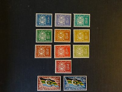 South Arabian Federation 1965 Set MNH SG 3-14