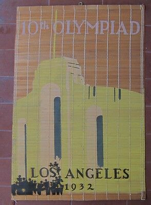 1932 LOS ANGELES Olympics ORIGINAL POSTER 54cm by 37cm bamboo
