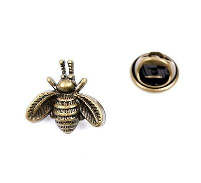 Cute Bronze Bee Lapel Badge Or Tie Tack Or Pin - Free Uk P&p..............w1511