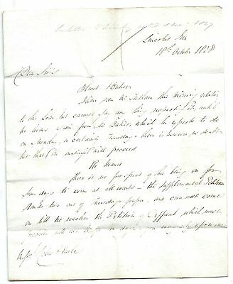 A genuine ANTIQUE letter from 1828