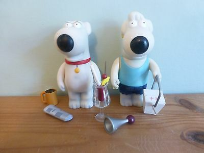 Family Guy Mezco Series Brian & Jasper Griffin Figures Used!
