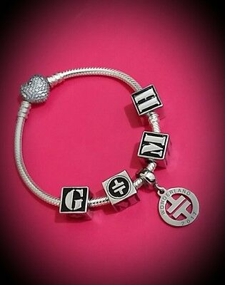 TAKE THAT - GARY - MARK - HOWARD Artist Initials Bead for Bracelet or Pendant