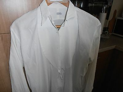 """Vtg The Carlton Marcella Fronted Dress Shirt sz 15"""" with Spear point Collar"""