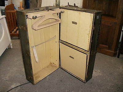 "3' 4"" Vintage Watajoy Travelling Wardrobe Coffee Table Trunk Chest Display Prop"